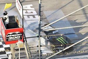 Riley Herbst, Joe Gibbs Racing, Toyota Supra Monster Energy spins
