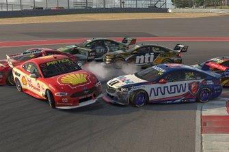 Scott McLaughlin, Team Penske, Lando Norris, Walkinshaw Andretti United, crash