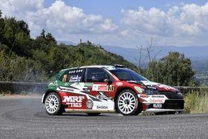 Emil Lindholm, Mikael Korhonen, Team MRF Tyres, Skoda Fabia Rally2 Evo