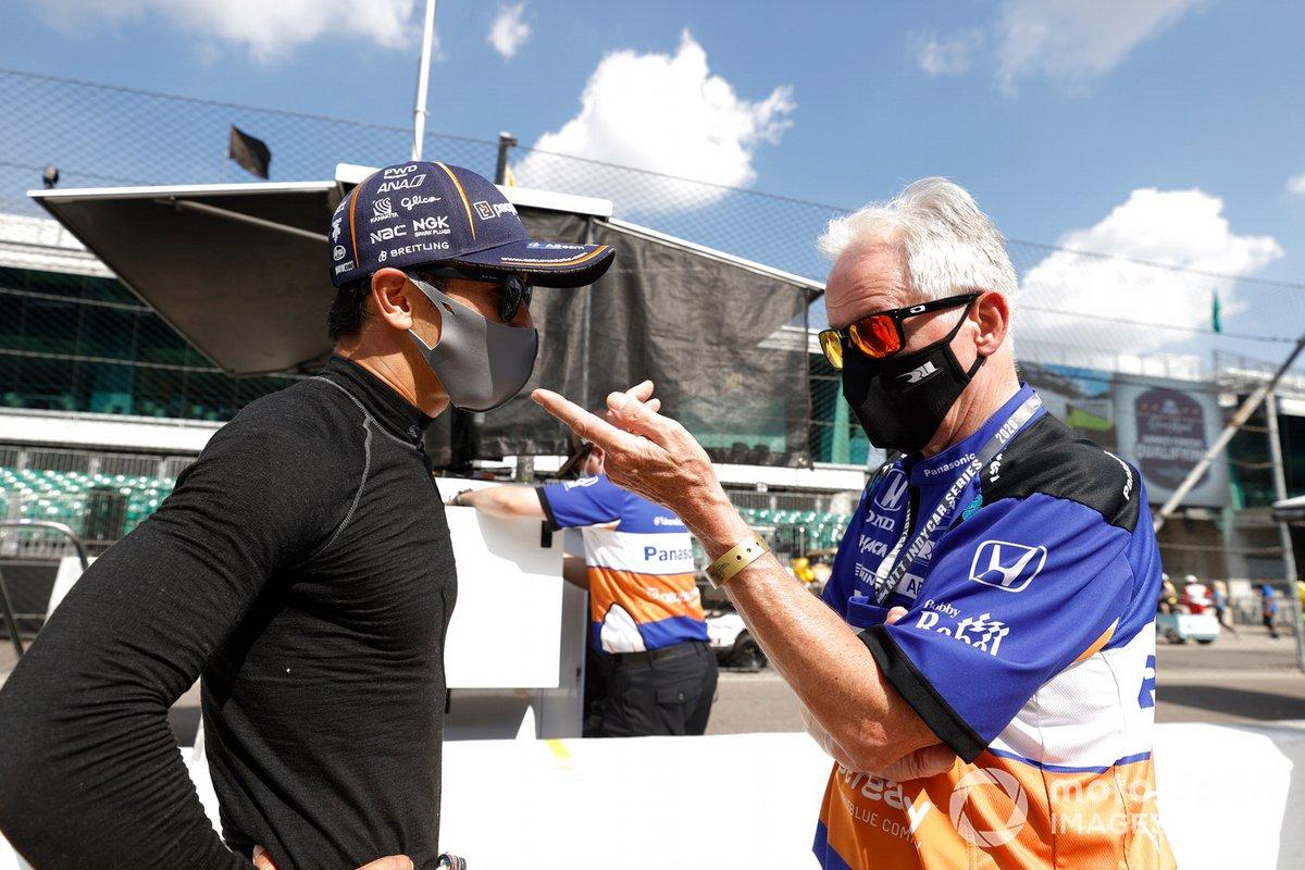 Takuma Sato, Rahal Letterman Lanigan Racing Honda, Eddie Jones ingeniero