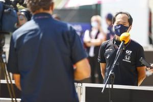 Toyoharu Tanabe, F1 Technical Director, Honda, is interviewed