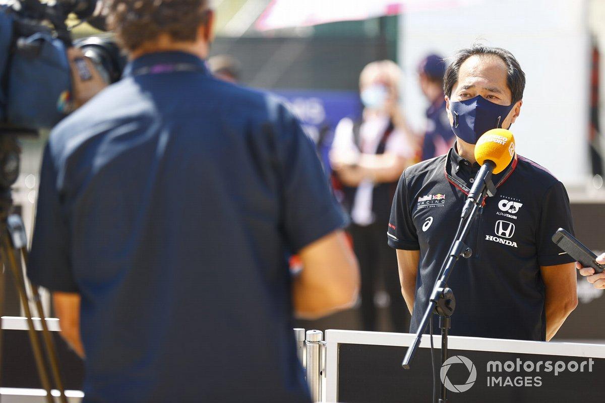 Toyoharu Tanabe, Director Técnico de F1, Honda, es entrevistado
