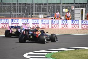Max Verstappen, Red Bull Racing RB16, passes Lance Stroll, Racing Point RP20