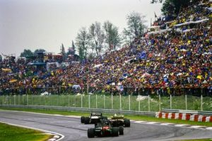 Renn-Action beim GP San Marino 1985 in Imola