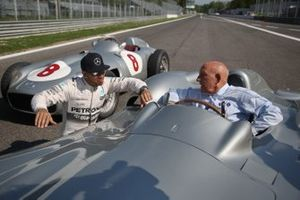 Lewis Hamilton and Sir Stirling Moss at Monza