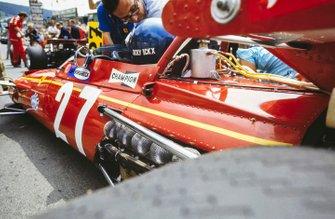 Jacky Ickx, Ferrari 312B on the grid