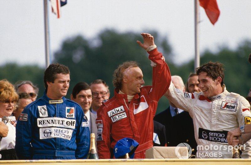 Niki Lauda, McLaren, Derek Warwick, Renault, Ayrton Senna, Toleman, GP di Gran Bretagna del 1984