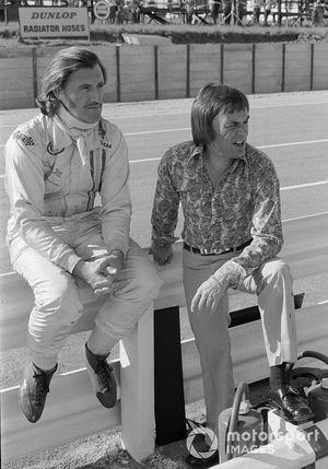 Graham Hill with Brabham Boss, Bernie Ecclestone