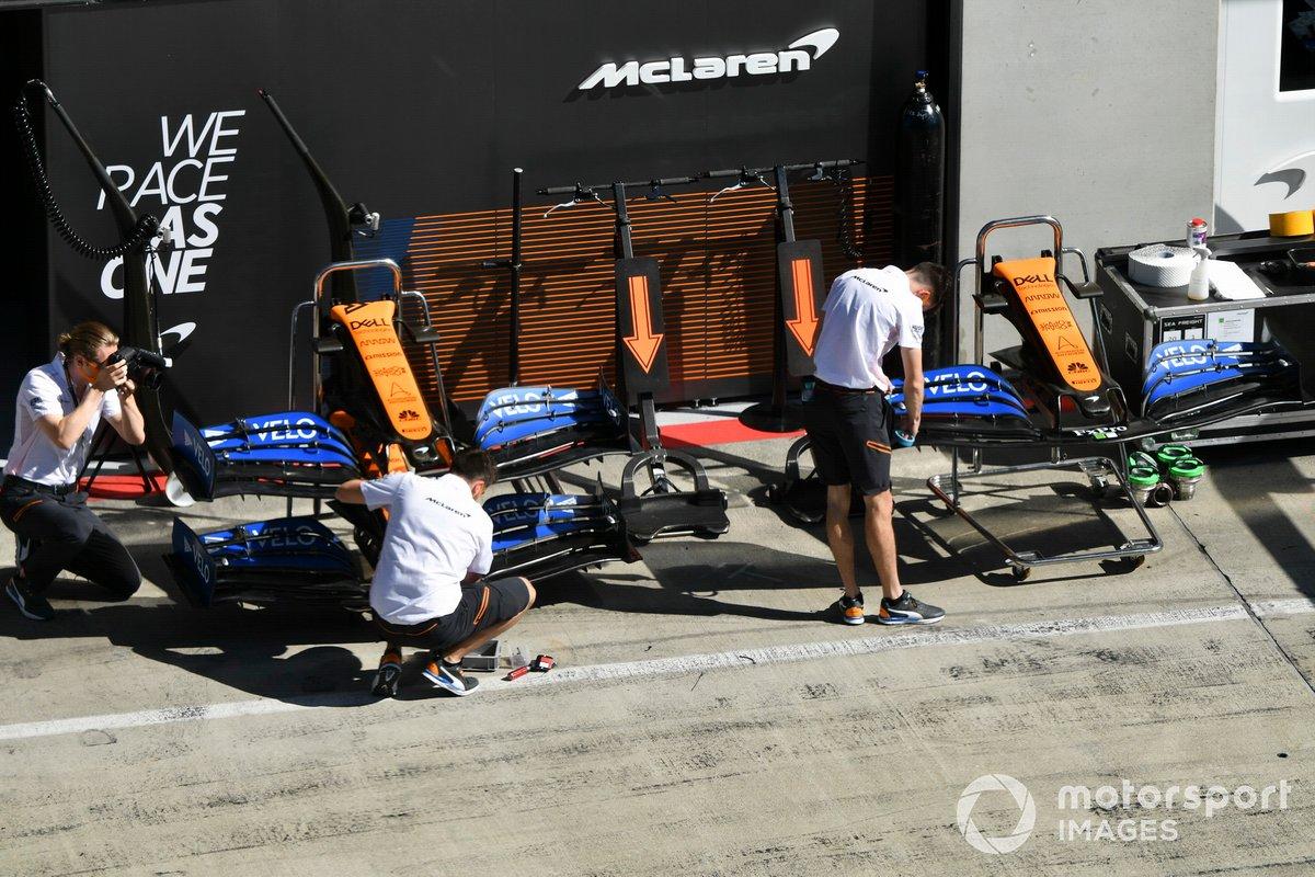 Alas delanteras de McLaren MCL35