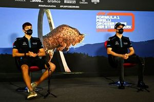 George Russell, Williams Racing and Nicholas Latifi, Williams Racing in the press conference