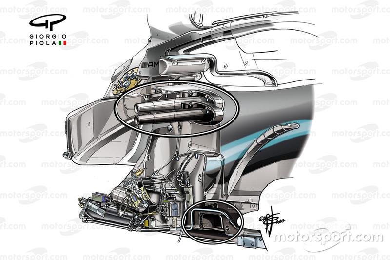 Chasis del Mercedes AMG F1 W10