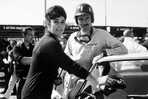 Graham Hill, Ferrari 250GTO with his wife Bette Hill