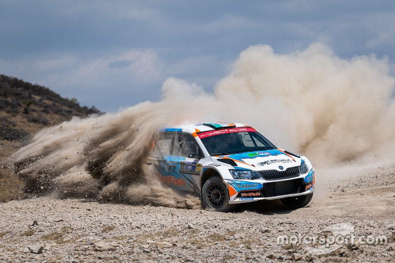 Barry McKenna, James Fulton, Skoda Fabia R5, Rally Mexico, WRC 3