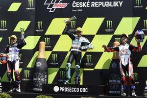 Podio: il vincitore della gara Dennis Foggia, Leopard Racing, secondo classificato Albert Arenas, Aspar Team, terzo classificato Ai Ogura, Honda Team Asia