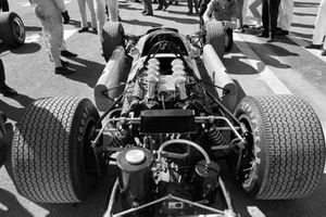 The rear of Bruce McLaren's McLaren M7A Ford
