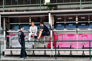 Nikita Mazepin, Force India F1 on the pit wall gantry