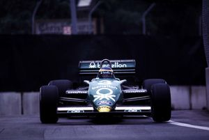 Michele Alboreto wins the race