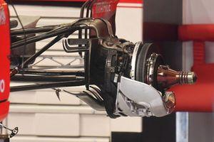 Eje trasero y freno trasero del Ferrari SF71H