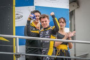 Podium: Race winner Max Fewtrell, R-Ace GP