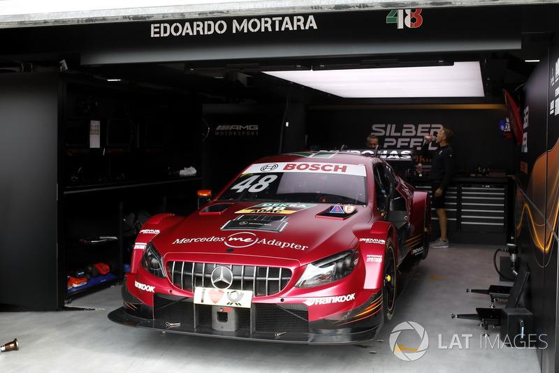 The car of Edoardo Mortara, Mercedes-AMG Team HWA, Mercedes-AMG C63 DTM