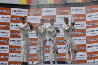 Podium: #42 BMW Team Schnitzer BMW M6 GT3: Mikkel Jensen, Timo Scheider, #43 BMW Team Schnitzer BMW