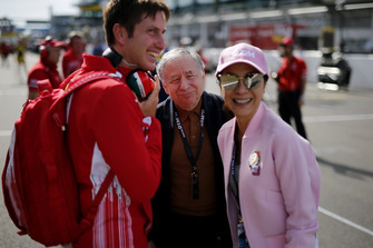 PREMA Theodore Racing engineer, Jean Todt, FIA president with his wife