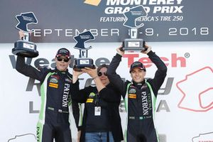 #22 Tequila Patron ESM Nissan DPi, P: Pipo Derani, Johannes van Overbeek, podium
