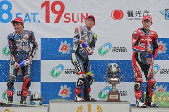 全日本ロードレース選手権第6戦JSB1000表彰台