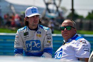 Ryan Blaney, Team Penske, Ford Fusion, mit Jeremy Bullins