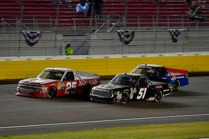 Brandon Jones, Kyle Busch Motorsports, Toyota Tundra Delta Faucet/Menards and Timothy Peters, GMS Racing, Chevrolet Silverado Kingman Chevrolet