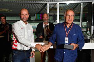 Le journaliste technique Giorgio Piola, au F1 Hall of Fame
