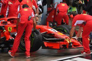 Kimi Raikkonen, Ferrari SF71H neus en voorvleugel