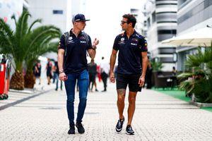 Max Verstappen, Red Bull Racing, talks to Daniel Ricciardo, Red Bull Racing