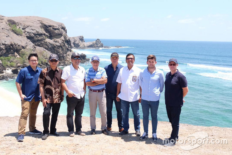 Indonesia Tourism Development Corporation (ITDC) President Director Abdulbar M Mansoer withDorna CEO Carmelo Ezpeleta and Sporting Director Carlos Ezpeleta
