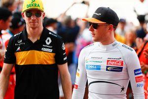 Stoffel Vandoorne, McLaren y Nico Hulkenberg, Renault Sport F1 Team