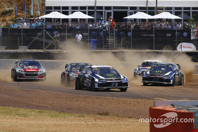 Johan Kristoffersson, PSRX Volkswagen Sweden leads Tom Banks