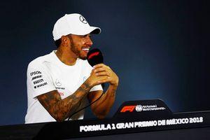 Lewis Hamilton, Mercedes AMG F1, en conférence de presse