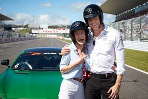 Toto Wolff, Mercedes AMG F1 Director of Motorsport, with Susie Wolff
