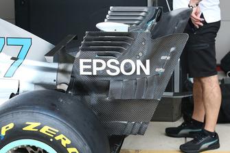 Mercedes AMG F1 W09 detalle del alerón trasero