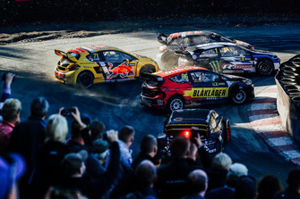 Kevin Hansen, Team Peugeot Total, Kevin Eriksson, Olsbergs MSE, Johan Kristoffersson, PSRX Volkswagen Sweden