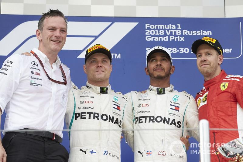 Pódio do GP da Rússia de 2018