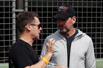 Tom Kristensen talks with Fredrik Johnsson