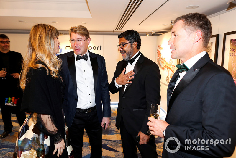 Mika Hakkinen, Tom Kristensen and Manish Pandey