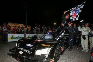 #10 Wayne Taylor Racing Cadillac DPi, P: Renger van der Zande, Jordan Taylor, Ryan Hunter-Reay, Celebrates with Checkered Flag