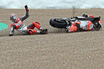 Авария: Микеле Пирро, Ducati Team
