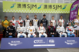 Group photo of all drivers