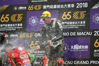Podium: Race winner Peter Hickman, Aspire-Ho by Bathams Racing, BMW. third place John McGuinness, Tak Chun Group by PBM, Ducati