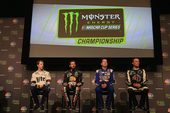Brad Keselowski, Team Penske, Martin Truex Jr., Furniture Row, Kyle Busch, Joe Gibbs Racing and Kevin Harvick, Stewart-Haas Racing
