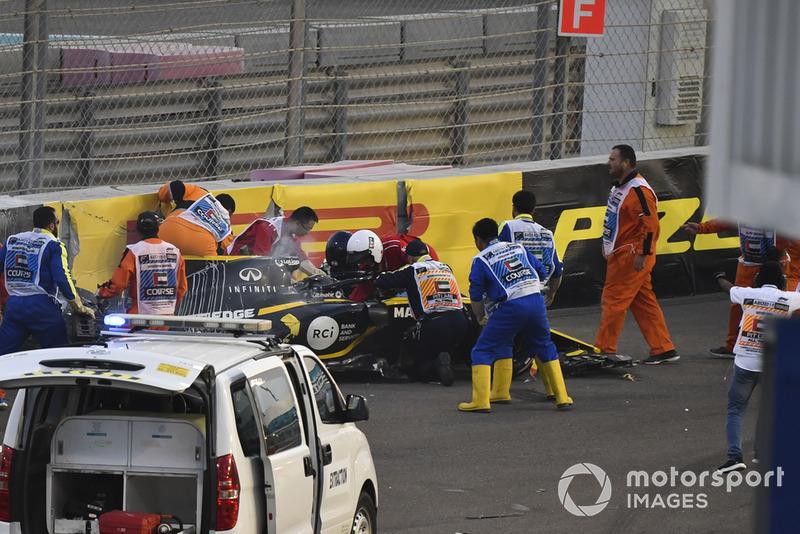 Crash Van Nico Hulkenberg Renault Sport F1 Team R S 18
