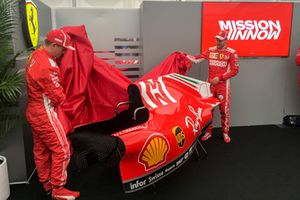 Sebastian Vettel, Kimi Raikkonen, Ferrari, unveiling Mission Winnow livery